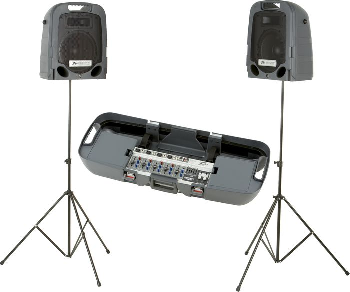 Peavey stands