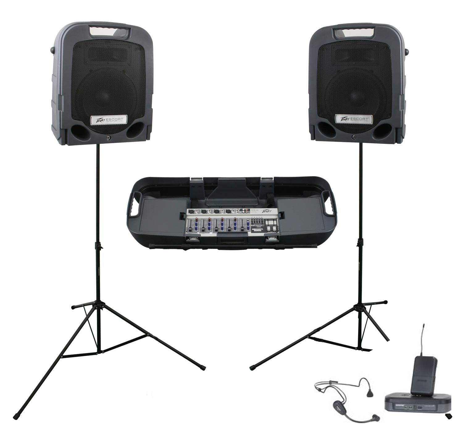 Peavey Escort 3000 And Microphone Shure Pg14 Pg 30 Fit